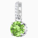 Swarovski Remix Collection Charm, 八月, 淺綠色, 鍍白金色 - Swarovski, 5437317