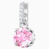 Swarovski Remix Collection Charm, 十月, 粉紅色, 鍍白金色 - Swarovski, 5437322