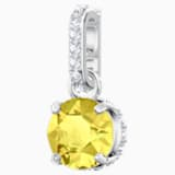 Swarovski Remix Collection Charm, noviembre, amarillo, Baño de Rodio - Swarovski, 5437326