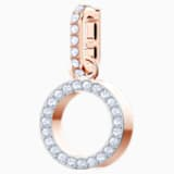 Swarovski Remix Collection Charm O, bianco, Placcato oro rosa - Swarovski, 5437607