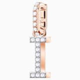 Swarovski Remix Collection Charm I, White, Rose-gold tone plated - Swarovski, 5437611