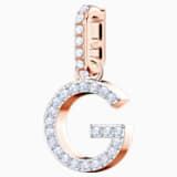 Swarovski Remix Collection Charm G, bianco, Placcato oro rosa - Swarovski, 5437614