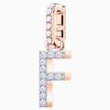 Swarovski Remix Collection Charm F, bianco, Placcato oro rosa - Swarovski, 5437616
