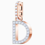 Swarovski Remix Collection Charm D, White, Rose-gold tone plated - Swarovski, 5437620
