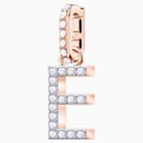 Swarovski Remix Collection Charm E, 白色, 鍍玫瑰金色調 - Swarovski, 5437621
