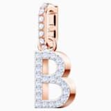 Φυλαχτό B από τη Swarovski Remix Collection, λευκό, επιχρυσωμένο με ροζ χρυσό - Swarovski, 5437624