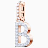 Swarovski Remix Collection Charm B, blanco, Baño en tono Oro Rosa - Swarovski, 5437624