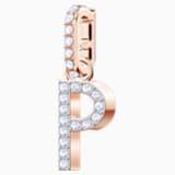 Swarovski Remix Collection Charm P, 白色, 鍍玫瑰金色調 - Swarovski, 5437625