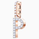 Swarovski Remix Collection Charm P, White, Rose-gold tone plated - Swarovski, 5437625