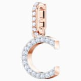 Swarovski Remix Collection Charm C, 白色, 鍍玫瑰金色調 - Swarovski, 5437626