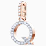 Swarovski Remix Collection Charm Q, blanco, Baño en tono Oro Rosa - Swarovski, 5437628