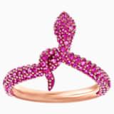 Leslie 戒指, 紫紅色, 鍍玫瑰金色調 - Swarovski, 5438405
