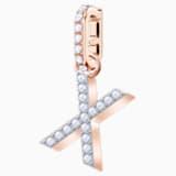 Swarovski Remix Collection Charm X, White, Rose-gold tone plated - Swarovski, 5440510