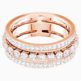 Further Ring, White, Rose-gold tone plated - Swarovski, 5441195