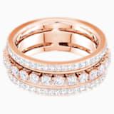 Prsten Further, bílý, pozlacený růžovým zlatem - Swarovski, 5441200