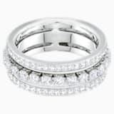Prsten Further, bílý, rhodiovaný - Swarovski, 5441203