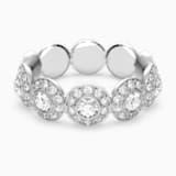 Angelic gyűrű, fehér, ródium bevonattal - Swarovski, 5441209