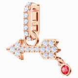 Swarovski Remix Collection Arrow Charm, 白色, 镀玫瑰金色调 - Swarovski, 5441402