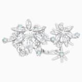 Merry Cocktail Ring, White, Rhodium plated - Swarovski, 5442412