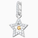 Swarovski Remix Collection Star Charm, Beyaz, Rodyum kaplama - Swarovski, 5443939