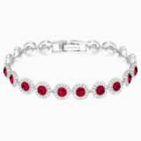 Angelic 手链, 红色, 镀铑 - Swarovski, 5446006