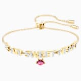 Melt Your Heart Bracelet, Dark Multi, Gold-tone plated - Swarovski, 5446015