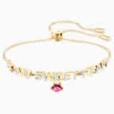 Melt Your Heart Bracelet, Multicolour, Gold-tone plated - Swarovski, 5446015