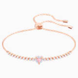 One Bracelet, Multi-colored, Rose-gold tone plated - Swarovski, 5446299