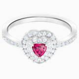 One 戒指, 紅色, 鍍白金色 - Swarovski, 5446300