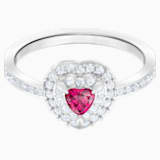 One Ring, Red, Rhodium plated - Swarovski, 5446300