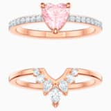 Conjunto One, multicolor, Baño en tono Oro Rosa - Swarovski, 5446302
