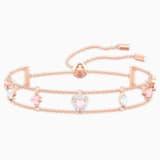 One Браслет, Многоцветный Кристалл, Покрытие оттенка розового золота - Swarovski, 5446304