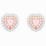 One Серьги, Многоцветный Кристалл, Покрытие оттенка розового золота - Swarovski, 5446995
