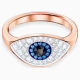 Anello Swarovski Symbolic Evil Eye, blue, placcato oro rosa - Swarovski, 5448837