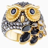 March Owl Motif Ring, Multi-colored, Gold-tone plated - Swarovski, 5448848