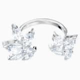 Louison nyitott gyűrű, fehér, ródium bevonattal - Swarovski, 5448851