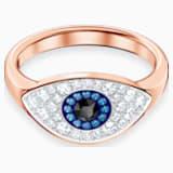 Swarovski Symbolic Evil Eye Ring, Blue, Rose-gold tone plated - Swarovski, 5448855