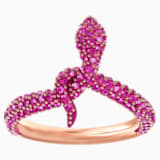 Leslie Ring, Fuchsia, Rose-gold tone plated - Swarovski, 5448871