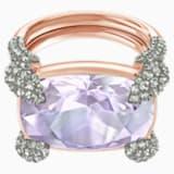 Make Cocktail Ring, Violet, Rose-gold tone plated - Swarovski, 5448885