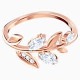 Prsten Mayfly, bílý, pozlacený růžovým zlatem - Swarovski, 5448886