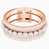 Further Кольцо, Белый Кристалл, Покрытие оттенка розового золота - Swarovski, 5448902