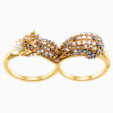 March Squirrel Double Motif 戒指, 多色設計, 鍍金色色調 - Swarovski, 5448907