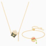 Nicest Set, Multi-colored, Gold-tone plated - Swarovski, 5448916