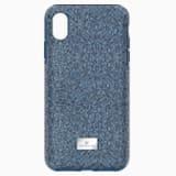 Etui na smartfona High z ramką chroniącą przed uderzeniem, iPhone® XS Max, niebieskie - Swarovski, 5449136