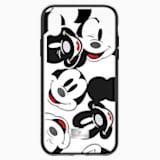 Pouzdro na chytrý telefon Mickey Face s integrovaným ochranným okrajem, iPhone® XR, černé - Swarovski, 5449137