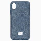Pouzdro na chytrý telefon High s ochranným okrajem, iPhone® X/XS, modré - Swarovski, 5449141