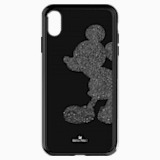 Pouzdro na chytrý telefon Mickey Body s integrovaným ochranným okrajem, iPhone® XS Max, černé - Swarovski, 5449143
