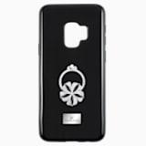 Custodia smartphone con bordi protettivi integrati Mazy ring, Galaxy S®9, nero - Swarovski, 5449145