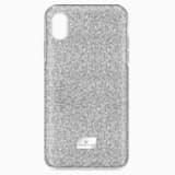 Custodia smartphone con bordi protettivi High, iPhone® XR, tono argentato - Swarovski, 5449147
