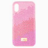 Pouzdro na chytrý telefon Love s ochranným okrajem, iPhone® X/XS, růžové - Swarovski, 5449510